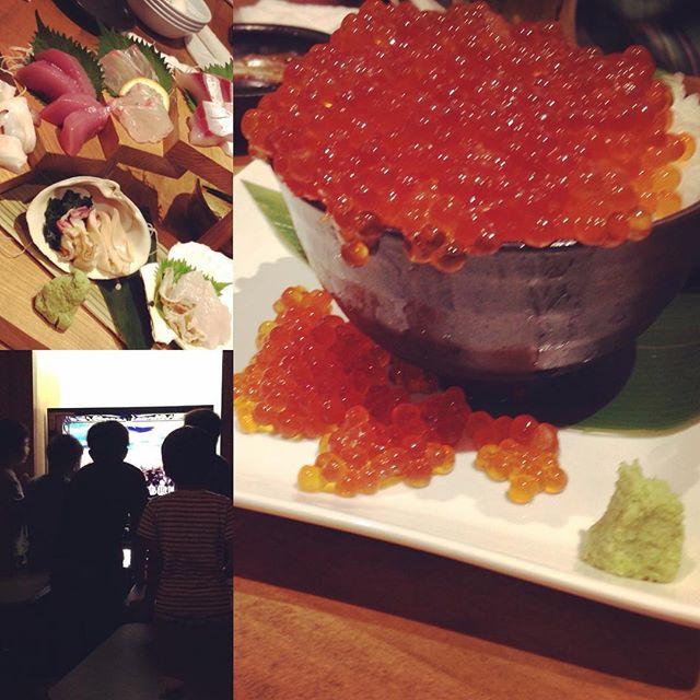 台風でキャンプ中止になったので急遽北海道レストラン&カラオケパーティで楽しみました。#原始焼#台風5号#男子ばかり#イクラあふれる︎#夏休み#ハイボールだらけ#中山の夜