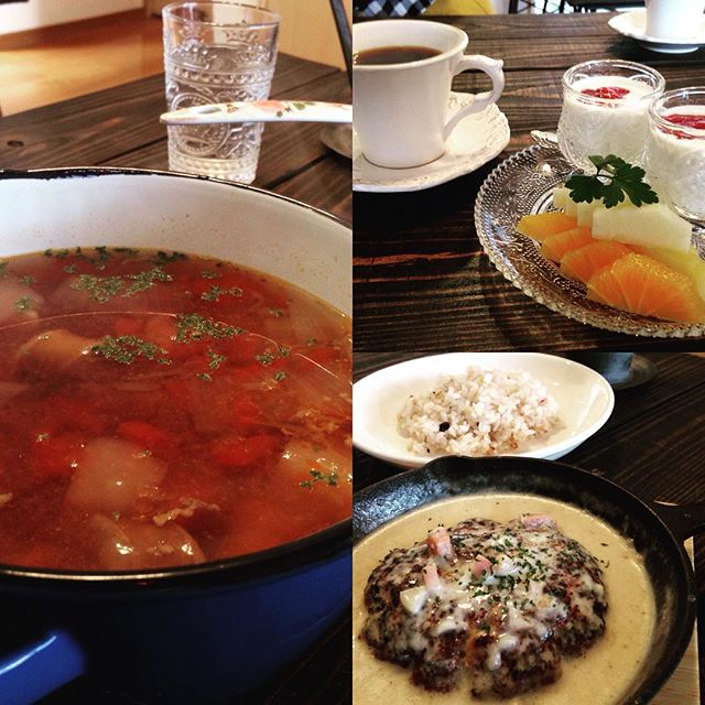 インスタで仕入れたランチスポット紫原にオープンしたsharecafeandmina今回はスープランチを注文。他にもランチメニューもデザートメニューも豊富。オーナーも素敵な方で元気頂きました!#sharecafeandmina#シェアアンドカフェミナ#大満腹#サリャンカ#ロシア料理#サロン#忙しい彼女を強制連行#鹿児島ランチ